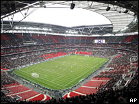 Wembley Stadium during Saturday's match