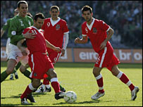 Wales captain Ryan Giggs in action at Croke Park