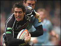 James Hook in action against the Blues