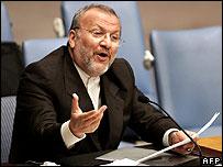 Iranian Foreign Minister Manoucher Mottaki