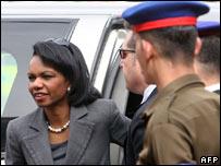 Condoleezza Rice arriving in Aswan