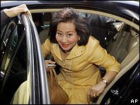 Pojaman Shinawatra arrives at court in Bangkok on 26 March 2007