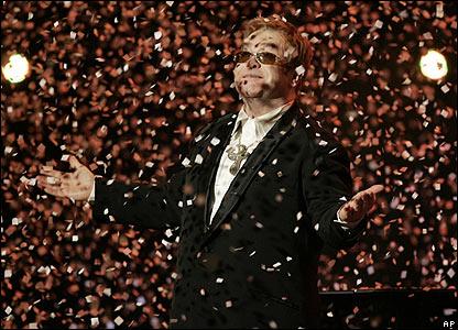 Elton John, en el concierto por sus 60 años.