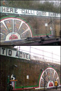 Banksy artwork in Brick Lane