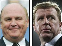 Newcastle chairman Freddy Shepherd, England boss Steve McClaren