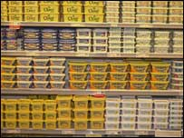 Supermarket shelves, BBC