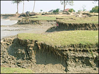 eroded coast