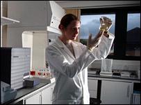 PhD researcher at diabetes lab (Pic: UHI)