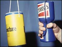 Charity collecting tins, BBC