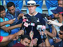 Greg Chappell is interviewed by the Indian media