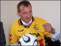 Uganda coach Laszlo Csaba