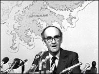 Defence Secretary John Nott