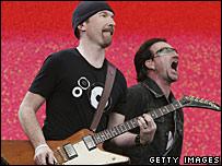 U2's The Edge with Bono
