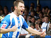 Colchester striker Jamie Cureton - picture courtesy of Colchester United FC