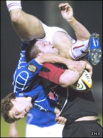 Border Reivers' Chris Cusiter takes a fall in Friday's win over Edinburgh