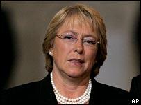 Chilean President Michelle Bachelet