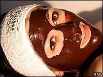 Woman with face pack