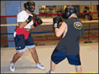 Police organised boxing club in Manchester, New Hampshire