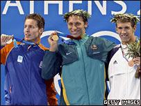 Hoogenband, Thorpe y Phelps