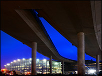 T5 ramps and terminal in background