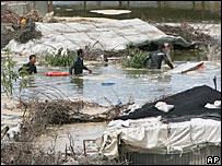 Разлив канализации в Газе