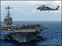 The USS Dwight D Eisenhower in the Gulf