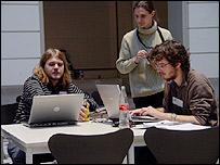 Participantes en la Linux Audio Conference de Berl�n.