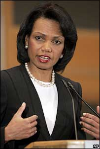 US Secretary of State Condoleezza Rice in Jerusalem on 27 March 2007