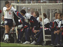 Graham Taylor substituted Gary Lineker during England's defeat by Sweden in Euro 92