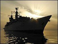 HMS Cornwall.