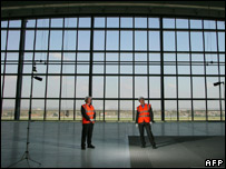 Terminal 5's vast windows