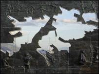 Monumento a las islas del Atl�ntico Sur en Tierra del Fuego, Argentina