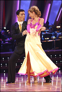 Heather Mills and her dance partner Jonathan Roberts