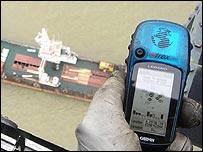 جهز رصد عبر الأقمار الاصطناعية في ملك البحرية الملكية البريطانية بُظهر  موقع الحادث
