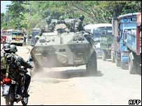 Troops near Batticaloa in eastern Sri Lanka
