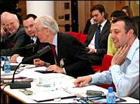 Слева направо: Михаил Федотов, Раф Шакиров, Мартин ПИнкер и Джереми Диар