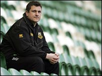 Northampton head coach Paul Grayson