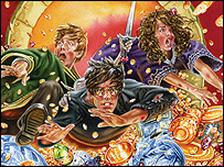 Extract from the Harry Potter book cover (courtesy of Bloomsbury)