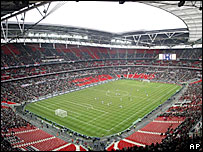 Wembley Stadium hosted an Under-21 international at the weekend