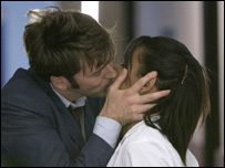 David Tenant and Freema Agyeman in Doctor Who