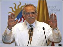 Gabriel García Márquez en el Congreso Internacional de la Lengua.