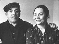 Gabriel García Márquez y su esposa Mercedes.