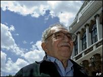Gabriel García Márquez en Guadalajara, México.
