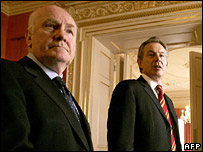 John Reid and Tony Blair