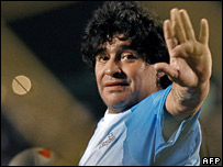 Diego Maradona in February 2007