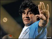 Diego Maradona in February 2007