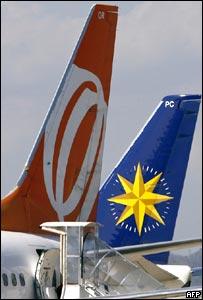 Aviones de Gol y Varig