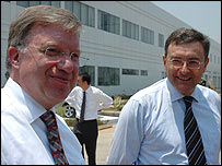 BMW's Frank-Peter Arndt (left) and Norbert Reithofer (right)