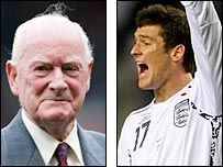 Sir Tom Finney (left) and David Nugent