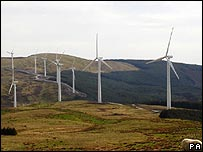Wind farm in Wales